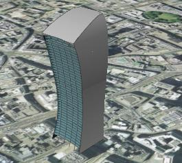 20 Fenchurch Street model in Google Earth