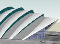 Armadillo, SECC Glasgow, model in SketchUp