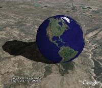 Bouncing Google Earth