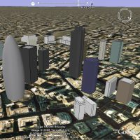 City of London animated timeline in Google Earth