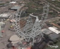 Ferris Wheel, 3d model animation in Google Earth