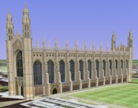 King's College Chapel model in Google Earth