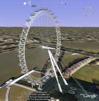 London Eye animation in Google Earth