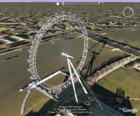 London Eye with animated shadow