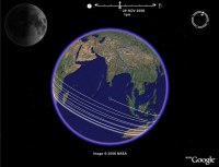 Lunar phase and position animation in Google Earth