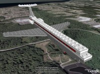 Model plane construction animation in Google Earth