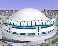 Osaka Dome model in Google Earth