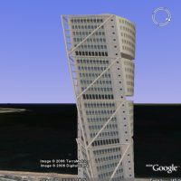 Turning Torso model in Google Earth
